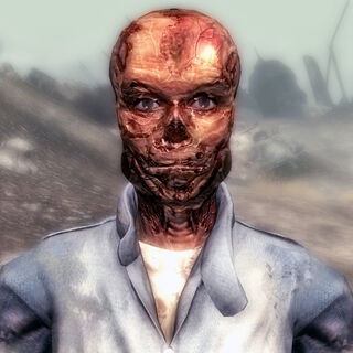 Ghoulified Moira, after Megaton has been blown up