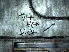 Tick tick tick graffiti