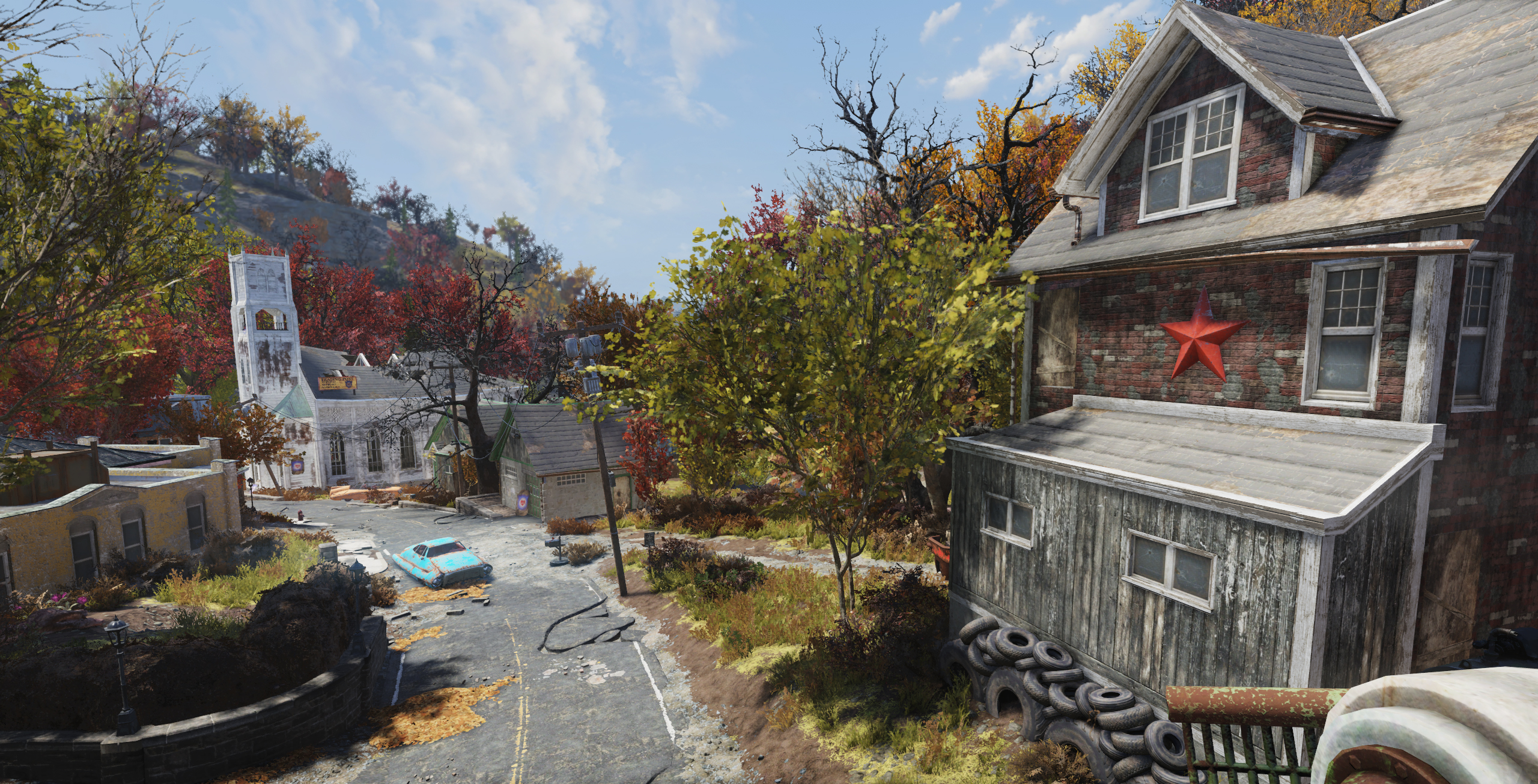 FO76 Flatwoods (view from the bridge)