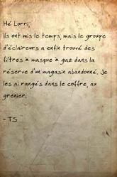 FO76 Message à Lorri