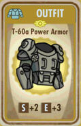 FoS T-60a Power Armor Card