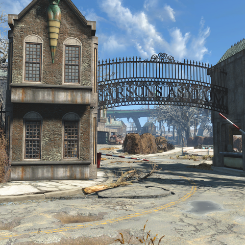 Parsons asylum gate
