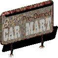 Fo1 Bob's used cars sign