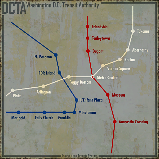 DCTA Metro map | Fallout Wiki | FANDOM powered by Wikia