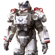FO76 American patriot power armor paint