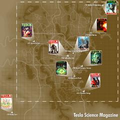 Местнахождение журналів на карті