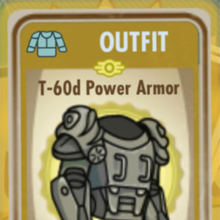 T-60d power armor card