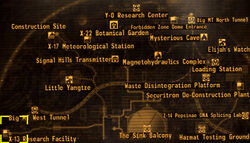 X-13 research facility map