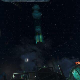 Падаючий НЛО вночі