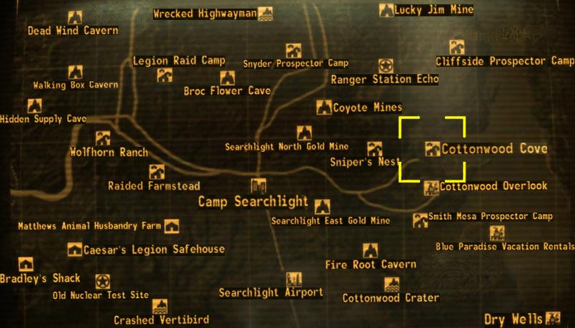 Fallout New Vegas Karte Mit Allen Orten Deutsch.Cottonwood Cove Fallout Wiki Fandom Powered By Wikia
