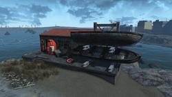 FO4 Salem coastal diner and dock