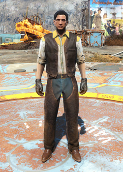 Fo4 Western Outfit and Chaps