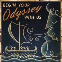 Довоєнний рекламний плакат «Почніть вашу Одіссею з нами»