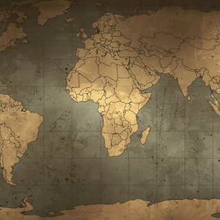 World map in <a href=