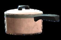 Covered sauce pan