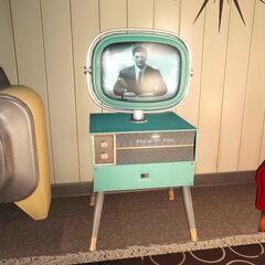 Телевізор компанії «Радіейшен-Кінг» у довоєнному будинку Вцілілого
