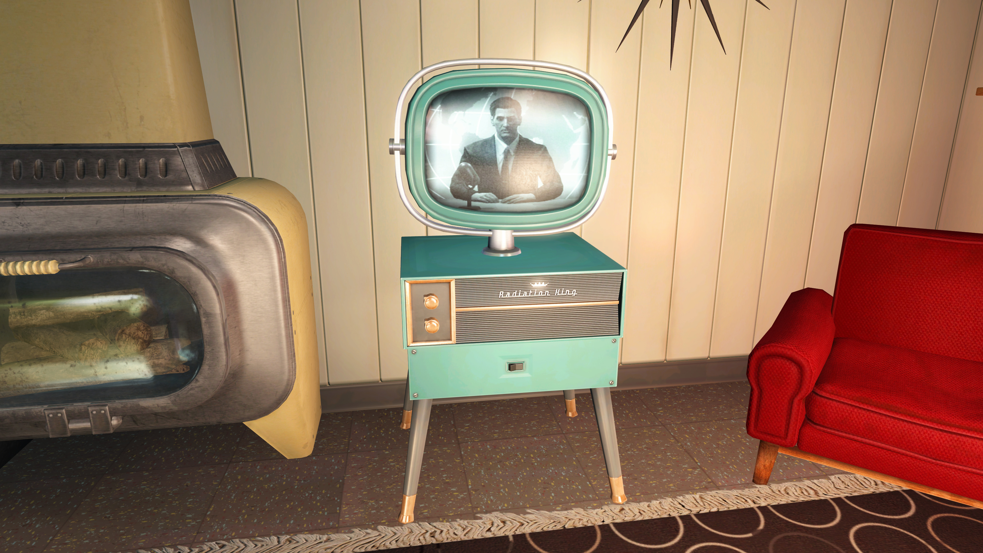 FO4 Radiation King TV in the House of Tomorrow