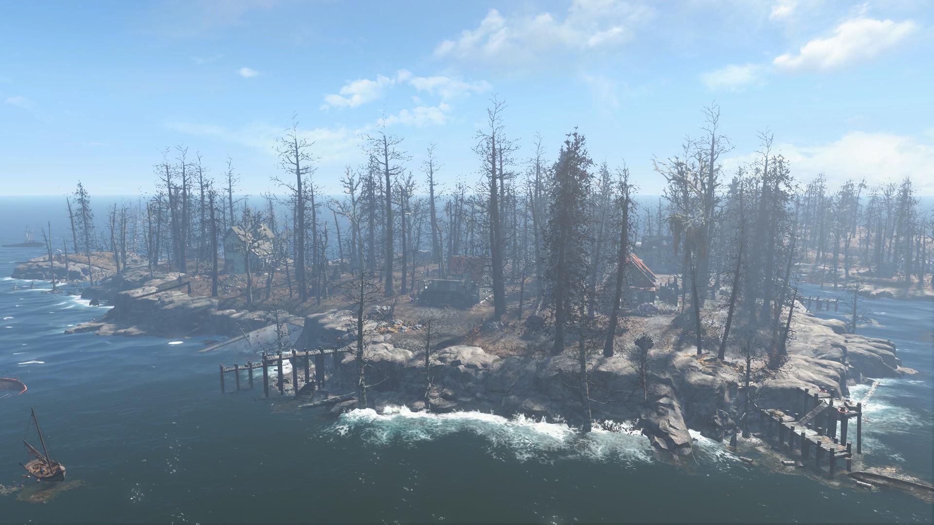 Huntress Island clear sky