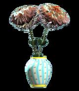 New teal barrel vase