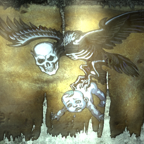 Плакат на стіні табору компанії Кіготь