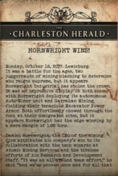 FO76 Charleston Herald - Hornwright wins!