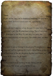 FO76 Letter to Tommy