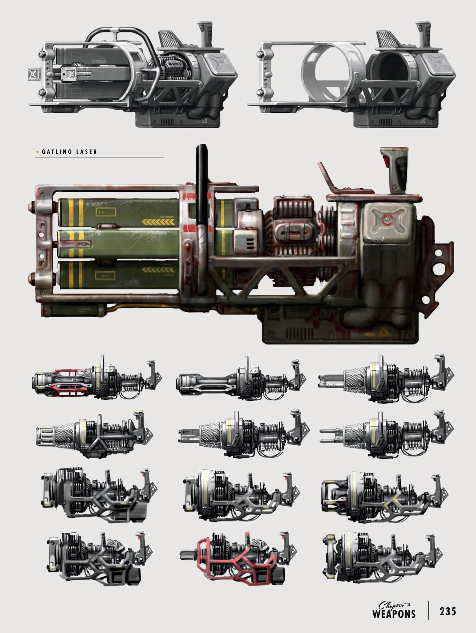 Art of Fo4 Gatling Laser concept art