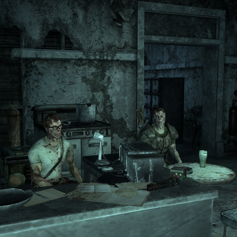 Murphy and Barret in their lab