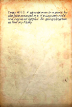 Page from Dr Frank's journal
