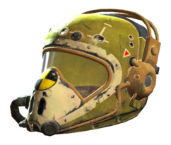 Yellow flight helmet
