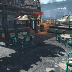 Diner next to the clubhouse