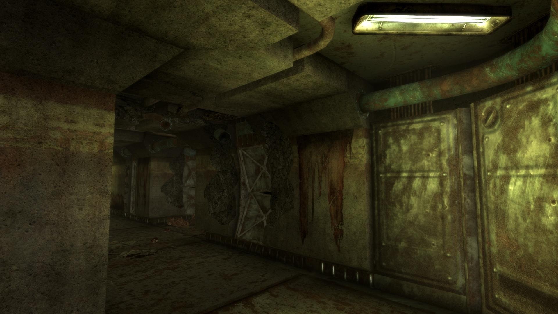 Vault 34 damaged interior