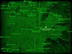 FO4 Полицейское управление южного Бостона (карта мира)