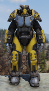 Fallout 76 X-01 prototype power armor front