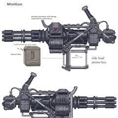 Minigun concept art by <a class=