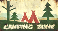 Pioneer Camping Zone Sign
