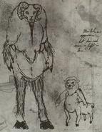 F76 Van Lowe Sheepsquatch Sketch 1