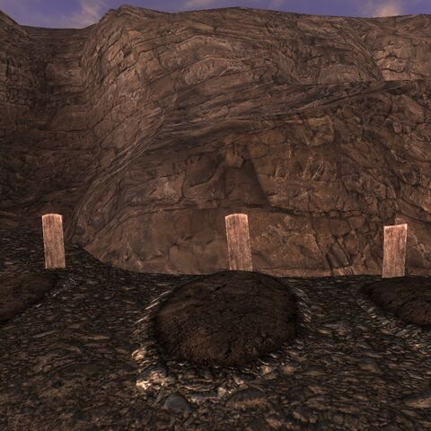 Могили на гірському уступі