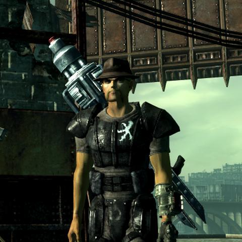 Персонаж, екіпірований гарматою «Тесла».