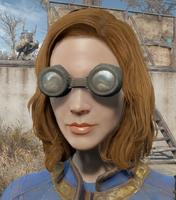 Welding goggles worn