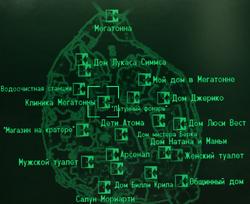 FO3 Megaton clinic locmap