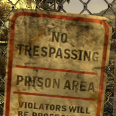 A no trespassing sign
