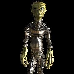 Alien captain with captain uniform