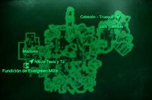 Esp Bazar de Evergreen Mills Mapa Loc
