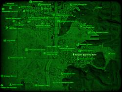 FO4 Монумент Дорчестер-Хайтс (карта мира)