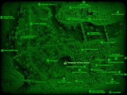 FO4 Резервуар Честнат-Хиллок (карта мира)
