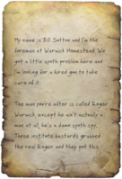 FO4 Bill's Letter Note 1
