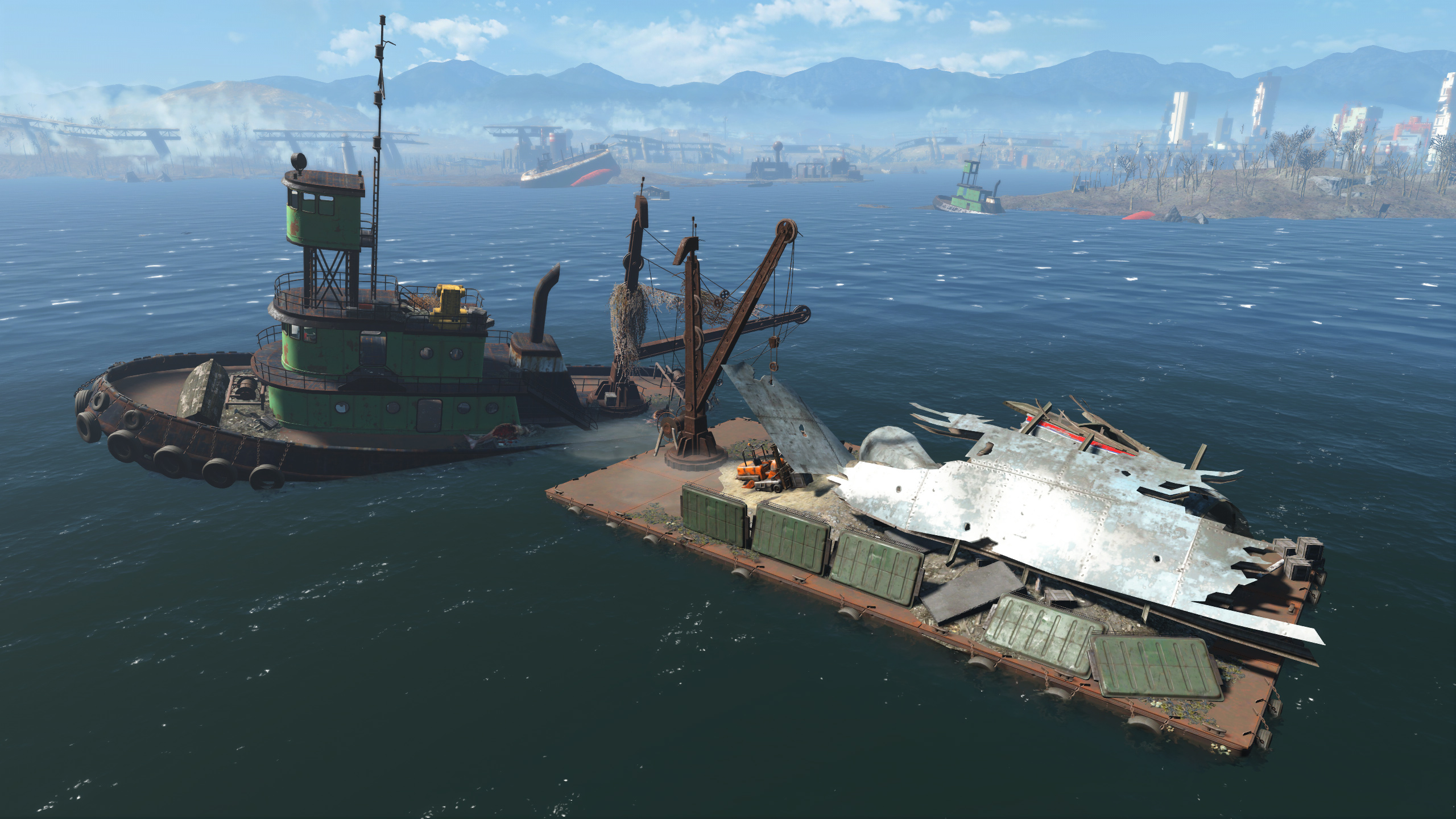 FO4 Spectacle Island (Skylines Flight Salvage)