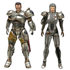Midwestern Brotherhood metal armor in <i>Fallout Tactics</i>