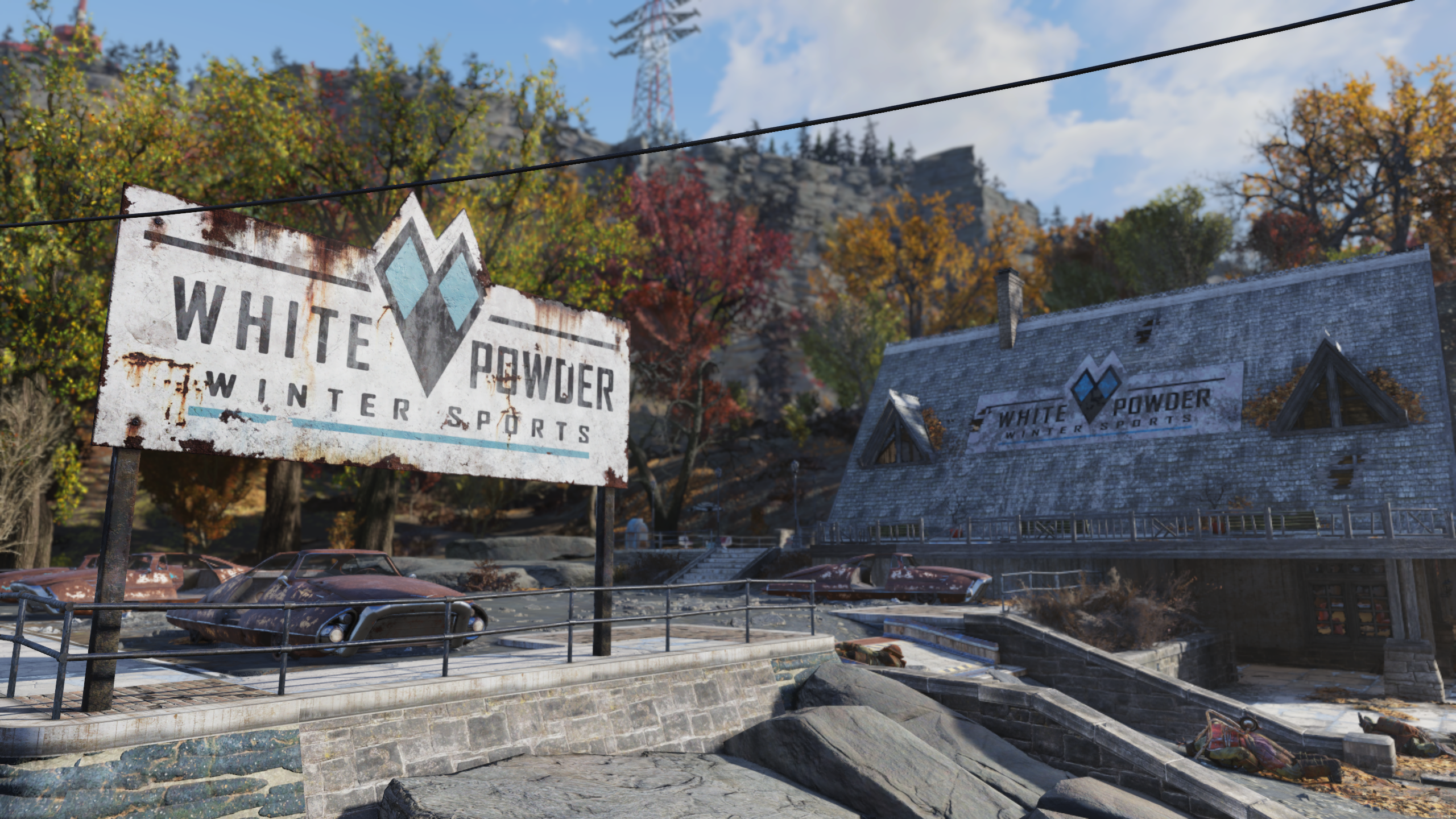FO76 White Powder Winter Sports (sign)